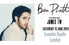 Tony Award winner Ben Platt will perform a solo concert at London's Eventim Apollo in June 2019