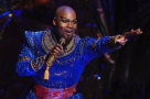 The old Switcheroo! The Genie in the US tour of Aladdin, Michael James Scott, will swap with the West End's Trevor Dion Nicholas this summer