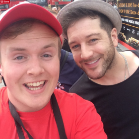 Matt Cardle with Perry O'Bree at 2016 West End Live
