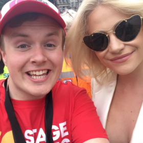 Pixie Lott with Perry O'Bree at 2016 West End Live