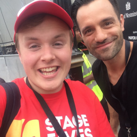 Ramin Karimloo with Perry O'Bree at 2016 West End Live