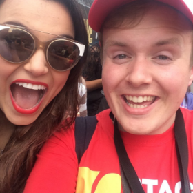 Samantha Barks with Perry O'Bree at 2016 West End Live