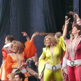 Mamma Mia performing at West End Live 2016