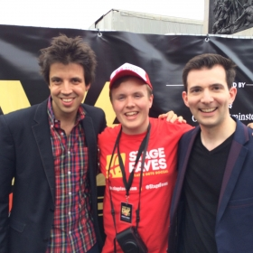 Ferris and Milne with Perry at West End Live 2016