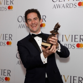 In the press room: Andy Blankenbuehler. @ Pamela Raith