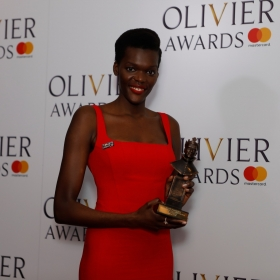 In the press room: Sheila Atim. © Pamela Raith