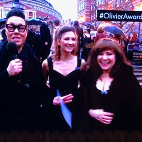 Gok Wan with Summer Strallen & Harriet Thorpe on the Olivier Awards red carpet