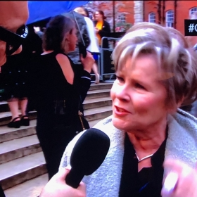 Imelda Staunton on the Olivier Awards red carpet