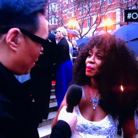 Beverley Knight on the Olivier Awards red carpet