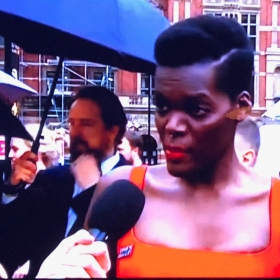 Sheila Atim on the Olivier Awards red carpet