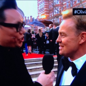 Gok Wan with Jason Donovan on the Olivier Awards red carpet