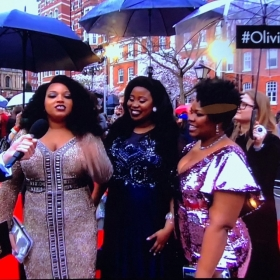 Dreamgirls' Marisha Wallace, Karen Mav & Moy Angela on the Olivier Awards red carpet
