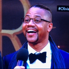 Cuba Gooding Jr on the Olivier Awards red carpet