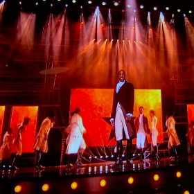 Giles Terera performing Alexander Hamilton from Hamilton at Olivier Awards