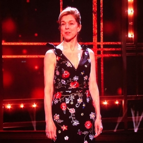Janie Dee introducing Follies at Olivier Awards