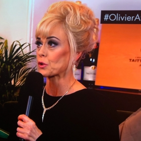 Tracie Bennett at Olivier Awards interval chat show