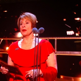 Patti Lupone presenting at Olivier Awards