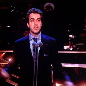 Jason Robert Brown presenting at Olivier Awards
