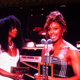 Beverley Knight & Alexandra Burke presenting at Olivier Awards