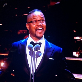Cuba Gooding Jr presenting at Olivier Awards