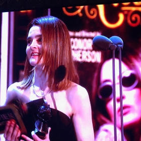 Shirley Henderson collects Best Actress in a Musical for Girl from the North Country