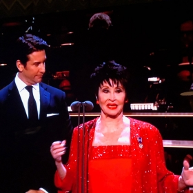 Andy Karl & Chita Rivera presenting at Olivier Awards