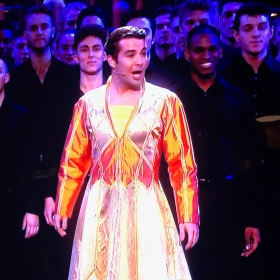 Joe McElderry performing Joseph at Olivier Awards 2018
