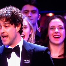 Lee Mead performing Joseph at Olivier Awards 2018