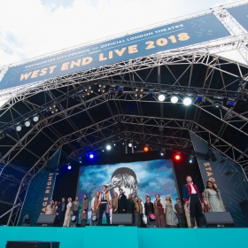 Les Miserables cast at West End Live 2018