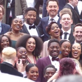 The cast of Tina – The Tina Turner Musical, Olivier Awards, Royal Albert Hall, April 2019 © Darren Ross