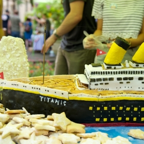 Titanic and iceberg cake