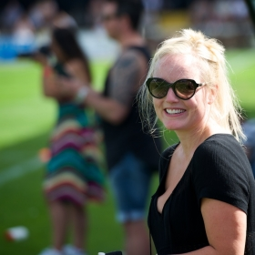 Kerry Ellis supporting Fred in kids match