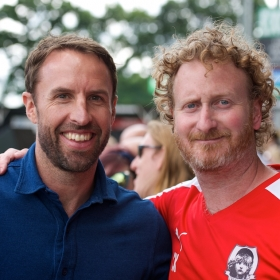 Les Mis FC manager Gareth Southgate and Chris Key