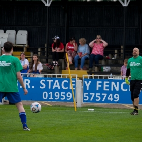 Former Liverpool FC Goalie Paul Jones in goal for Phantom FC warming up