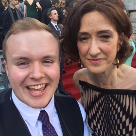 Perry O'Bree on the red carpet. 2017 Olivier Awards