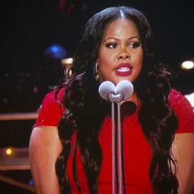 Amber Riley Winning Best Actress. Olivier Awards 2017