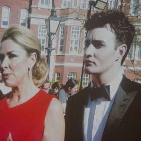 On the red carpet. Olivier Awards 2017