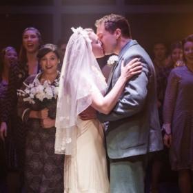 Gary Tushaw, Emily Bull and cast in Allegro. © Scott Rylander