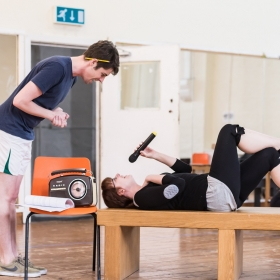 The Quentin Dentin Show cast in rehearsal © Lidia Crisafulli