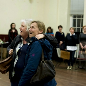 Claire Moore & Joanna Riding in The Girls rehearsals. © Matt Crockett
