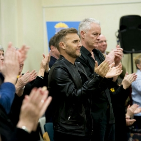 Gary Barlow & Tim Firth at The Girls rehearsals. © Matt Crockett. © Matt Crockett