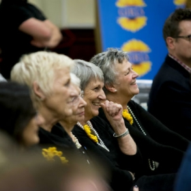 The original Calendar Girls watching The Girls rehearsals. © Matt Crockett