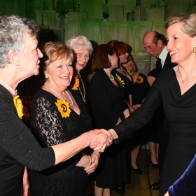 Christine Clancy & Ros Fawcett meet HRH Countess of Wessex at The Girls gala, 20 February 2017. © Alan Davidson