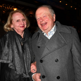 John Sergeant & wife at The Girls gala, 20 February 2017. © Alan Davidson