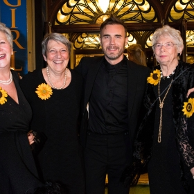 Original Calendar Girls with Gary Barlow at The Girls gala, 20 February 2017. © Alan Davidson