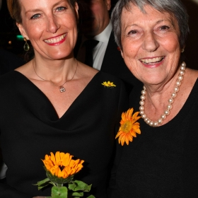 HRH Countess of Wessex & Angela Baker at The Girls gala, 20 February 2017. © Alan Davidson