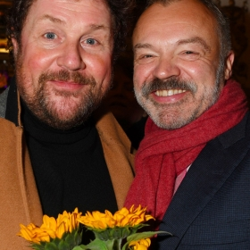 Michael Ball & Graham Norton at The Girls gala, 20 February 2017. © Alan Davidson