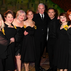 The cast with Tim Firth at The Girls gala, 20 February 2017. © Alan Davidson