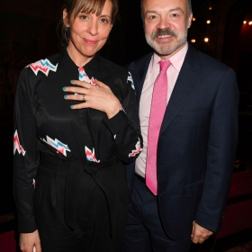 Mel Giedroyc & Graham Norton at The Girls gala, 20 February 2017. © Alan Davidson