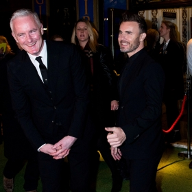 Tim Firth & Gary Barlow at The Girls gala, 20 February 2017. © Alan Davidson